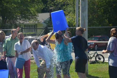 Staff accepts ALS ice bucket challenge