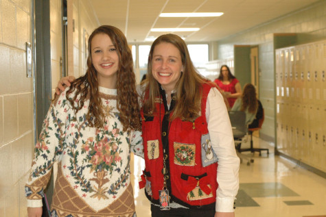 Students and teachers participate in Ugly Sweater Day