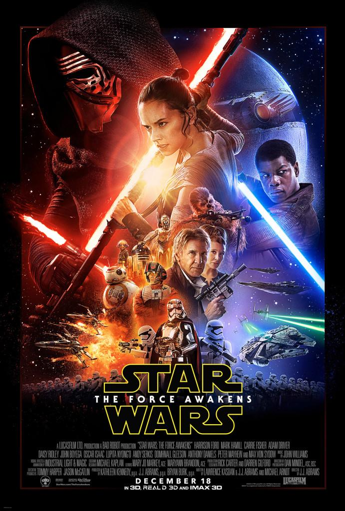 Official Force Awakens Movie Poster. All distribution rights belong to Lucasfilm LTE and Walt Disney Pictures
