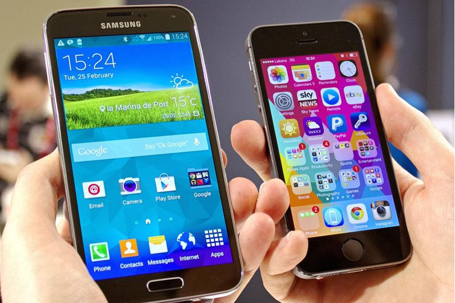 The comparisons between Android and iPhones are more than just physical appearance.