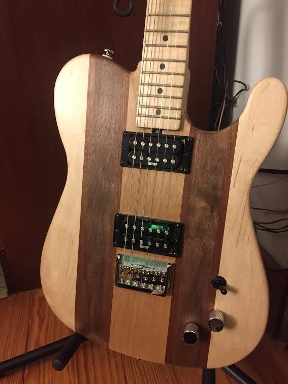 Senior Zach Cote's finished guitar