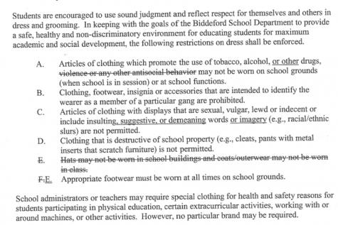 Biddeford school board ends hat ban