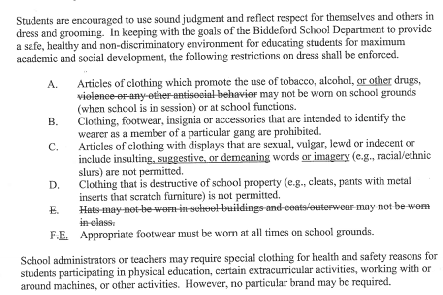 Biddeford School Board Ends Hat Ban The Roar