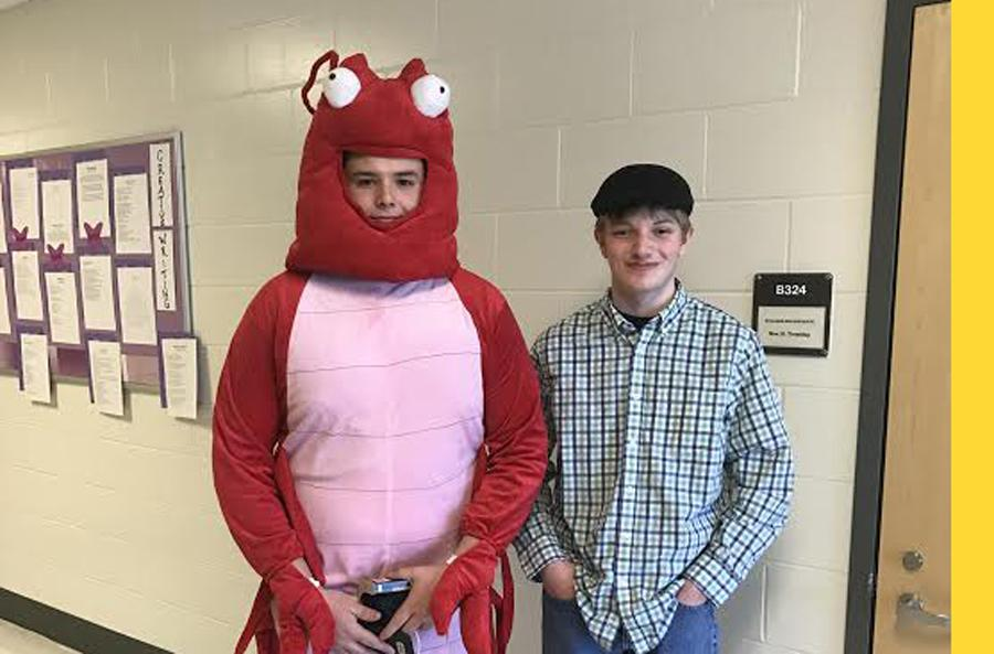 Senior Matt Brady and senior Jacob Bilsky.